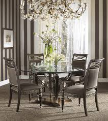 glass dining room sets buy the belvedere dining room set with ground glass table by