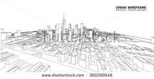 cityscape vector sketch architecture illustration stock vector