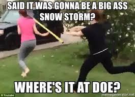 Big Ass Meme - said it was gonna be a big ass snow storm where s it at doe