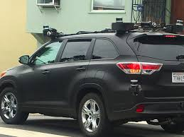 toyota around me a mysterious toyota self driving vehicle was spotted in san