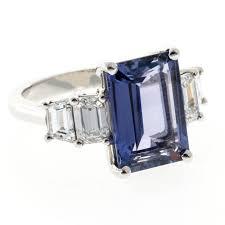 sapphire emerald cut engagement rings suchy emerald cut sapphire platinum