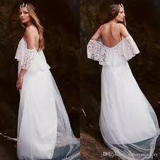Off The Shoulder Wedding Dresses Discount Greek Goddess Bohemian Wedding Dress Off The Shoulder