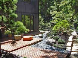 Backyard Bridge Lawn U0026 Garden Most Beautiful Japanese Garden Design With Country