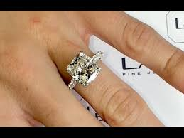 real diamond engagement rings 4 carat cushion cut diamond engagement ring