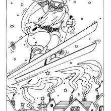 ho ho santa coloring pages hellokids