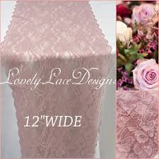 dusty rose table runner 20ft dusty rose lace table runner 12wide lace overlay weddinds