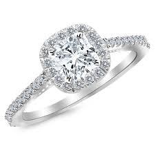 cushion engagement rings certified 1 carat cushion cut halo diamond engagement ring