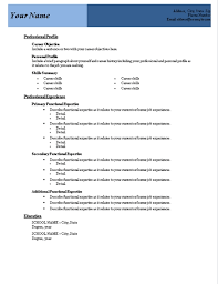 Word Document Templates Resume Free Microsoft Word Resume Template Resume Template And