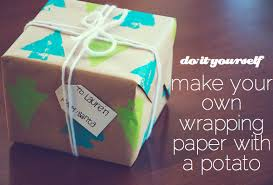 make your own wrapping paper diy potato st wrapping paper the pear wrapping papers