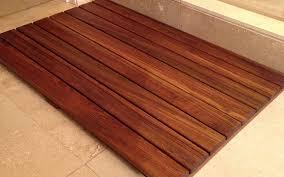 Teak Bath Mat Bathroom Floor Mat