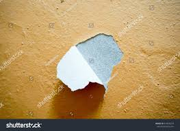 image building wall defect peeling paint stock photo 614039219