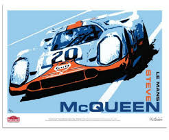 porsche 917 art amazon com steve mcqueen drives the porsche 917 20 le mans art