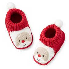 christmas crocheted santa booties carters baby baby