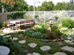 decor modern design of small yard design with pergola and furniture