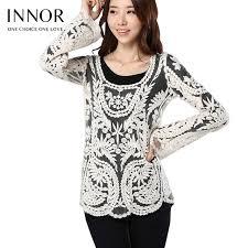aliexpress com buy hollow out floral lace blouse women elegant