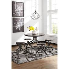 adjustable 5 piece dining room counter table set by signature