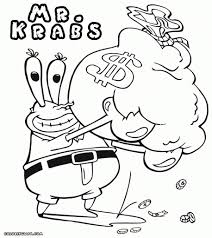 mr krabs coloring pages coloring pages online 5539