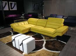 new ideas yellow leather sofa and home divani casa 994b modern