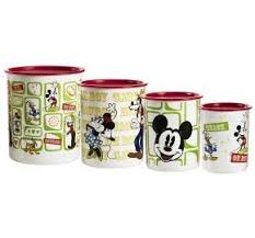 Mickey Mouse Kitchen Set by Tupperware Disney Mickey Mouse Vintage 4pc Canister Set Amazon