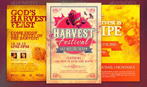 harvest and thanksgiving flyer templates four c graphic