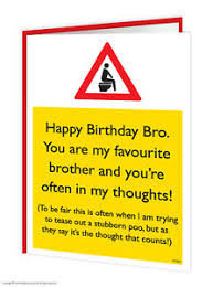 brainbox candy brother bro birthday greeting cards funny rude