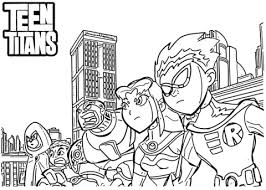 teen titans coloring free printable coloring pages