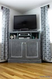 Free Woodworking Plans For Corner Cabinets by Ana White Tall Corner Media Console Diy Projects