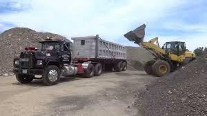 mack trucks loading an r model mack dump truck youtube