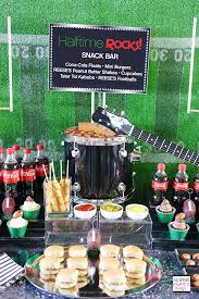 football party ideas halftime rocks football party snack bar ideas soiree event design