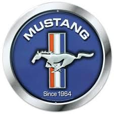 mustang logo ford mustang logo since 1964 tin sign allposters co uk