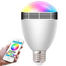 led light bulb speaker changeable color wireless bluetooth speaker rgb color smart led