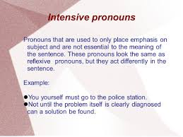 a small presentation on pronouns by group 5 objectives i to