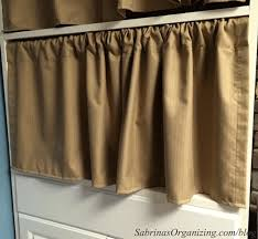 Two Curtains In One Window 6 Ways To Hide Clutter In Your Small Home Sabrina U0027s Organizing