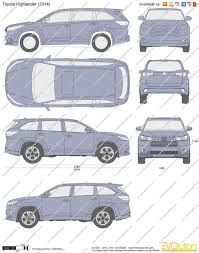 toyota highlander length the blueprints com vector drawing toyota highlander
