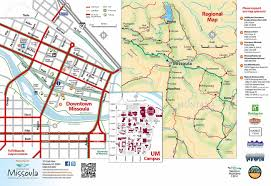 University Of Tennessee Parking Map by Maps Destination Missoula