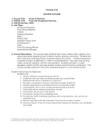 Resume For Bakery Worker Culinary Arts Resume Free Resume Example And Writing Download