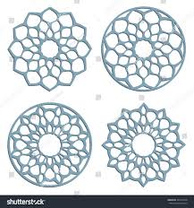 diy laser cutting patterns islamic die stock vector 380176348