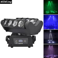 super 8x10w rgbw led spider light dmx512 moving head light