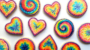 Decorating Icing For Cookies How To Decorate Rainbow Tie Dye Cookies With Royal Icing Youtube