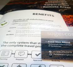 It Technician Business Card Sogescom Visual Identity On Behance