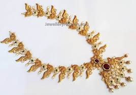 long necklace designs images Gold long necklace designs catalogue jewellery designs jpg
