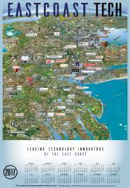 Map East Coast 2017 East Coast Tech Silicon Maps