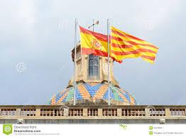 Barcelona Spain Flag Flag Of Spain And Catalonia Barcelona Spain Stock Image Image