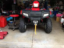 polaris sportsman 90 winch install honda atv forum