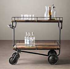 industrial iron wood kitchen trolley natural black buy kitchen bar carts cabinets rh