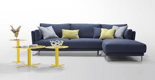 Modern Dark Blue Fabric Sectional Sofa Lucas Fabric Sectional - Fabric modern sofa
