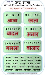 hindi words with आ ki matra language pinterest words kid
