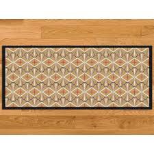 tapis cuisine original paillasson cuisine écru azulejos