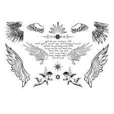 yeeech temporary tattoos sticker for small wings