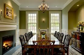 pastel green wall color for traditional dining room decorating